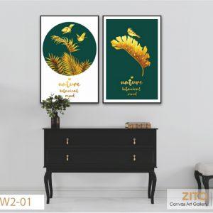 tranh trang trí chiếc lá vàng