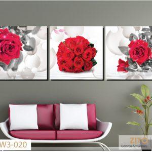 tranh canvas hoa hồng