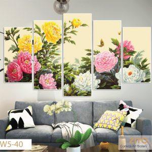 Tranh canvas Vườn sắc xuân