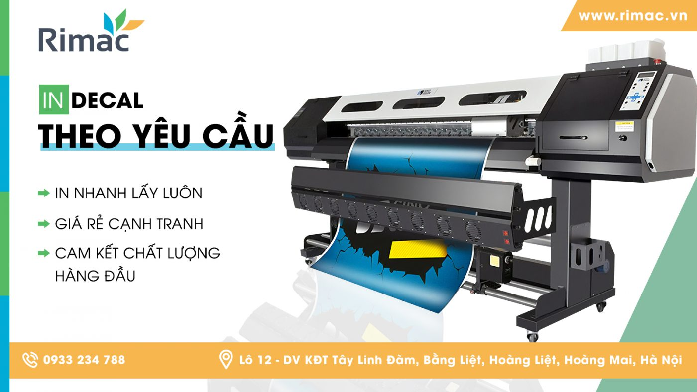 in decal, dịch vụ in decal