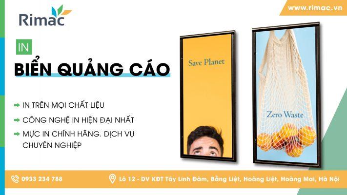 in biển quảng cáo