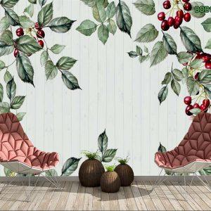 Tranh dán tường cherry chín mọng