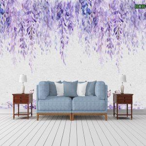Tranh dán tường dàn hoa tigon tím