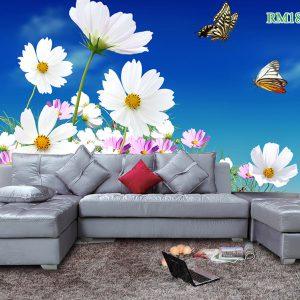 Tranh dán tường hoa xuyến chi