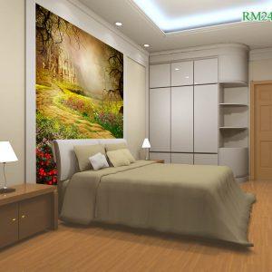 Tranh dán tường phòng ngủ