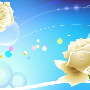 Tranh trang trí hoa hồng trắng