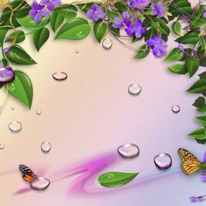 Tranh dán tường hoa dây leo
