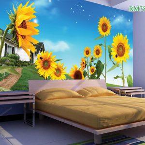Tranh dán tường hoa hướng dương