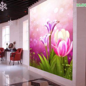 Tranh dán tường hoa tulip
