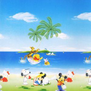 Tranh dán tường bãi biển tuổi thơ