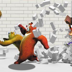 Tranh dán tường gấu boonie tinh nghịch