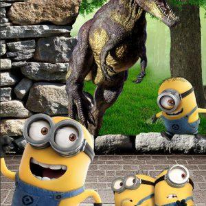 Tranh dán tường minion và khủng long