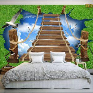 Tranh dán tường nấc thang thiên đường
