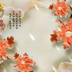 Tranh dán tường 3D lá liên hoa