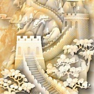 Tranh dán tường 3D vạn lý trường thành